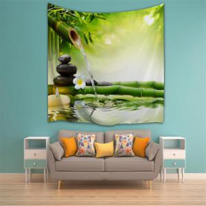 Zen Water Bamboo 3D Printing Home Wall Hanging Tapestry for Decoration -