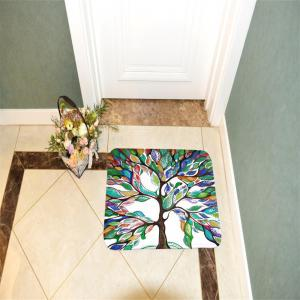 Colorful Tree Super Soft Non-Slip Bath Door Mat Machine Washable Quickly Drying -