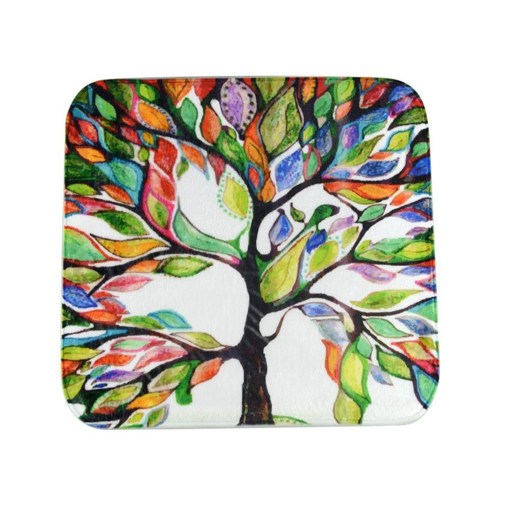 Colorful Tree Super Soft Non-Slip Bath Door Mat Machine Моющийся быстро высыхающий