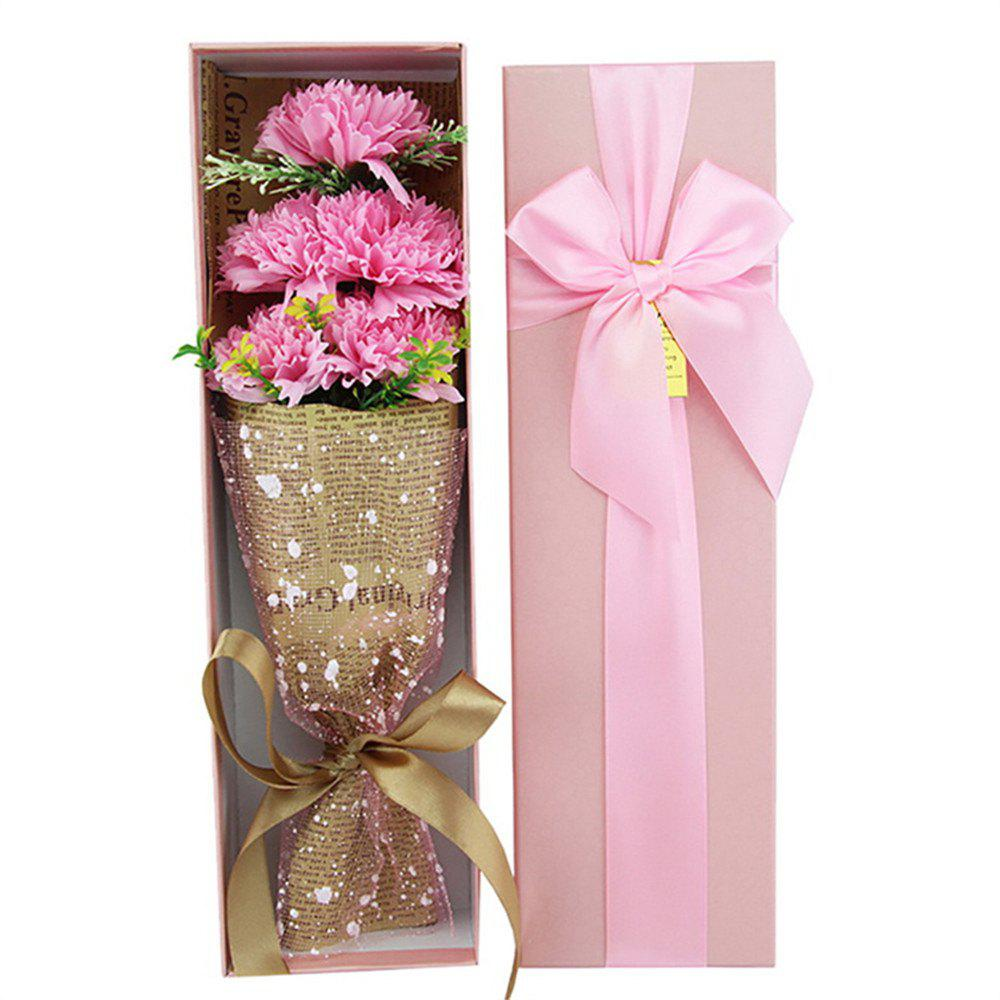 Cheap Five Flower Simulation Bouquets of Carnation Soap Box The Idea Mother's Day Gift