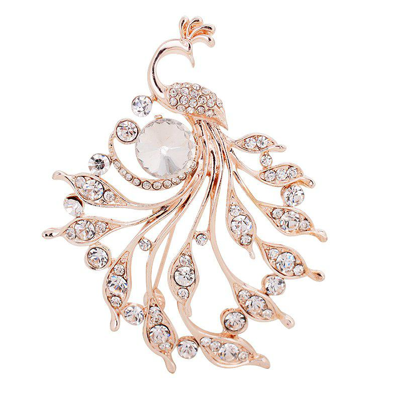 Trendy New Korean Peacock Diamond Brooch Fashion Girls Clothes Accessories Corsage Pin
