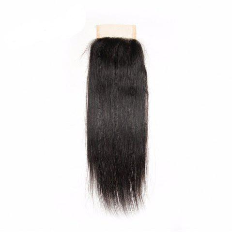 Affordable Brazilian Virgin Human Hair Natural Black Straight Swiss Lace Closure Extension