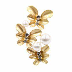 PULATU Diamond Simulate-Pearl	Flower Brooch XZ-C1L8-4 -