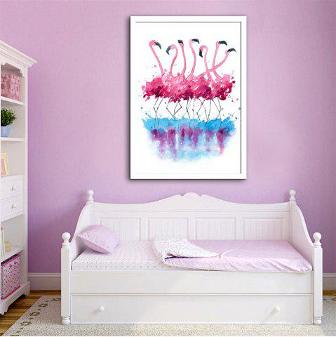 Special Design Frame Paintings Bird of Red Color Print