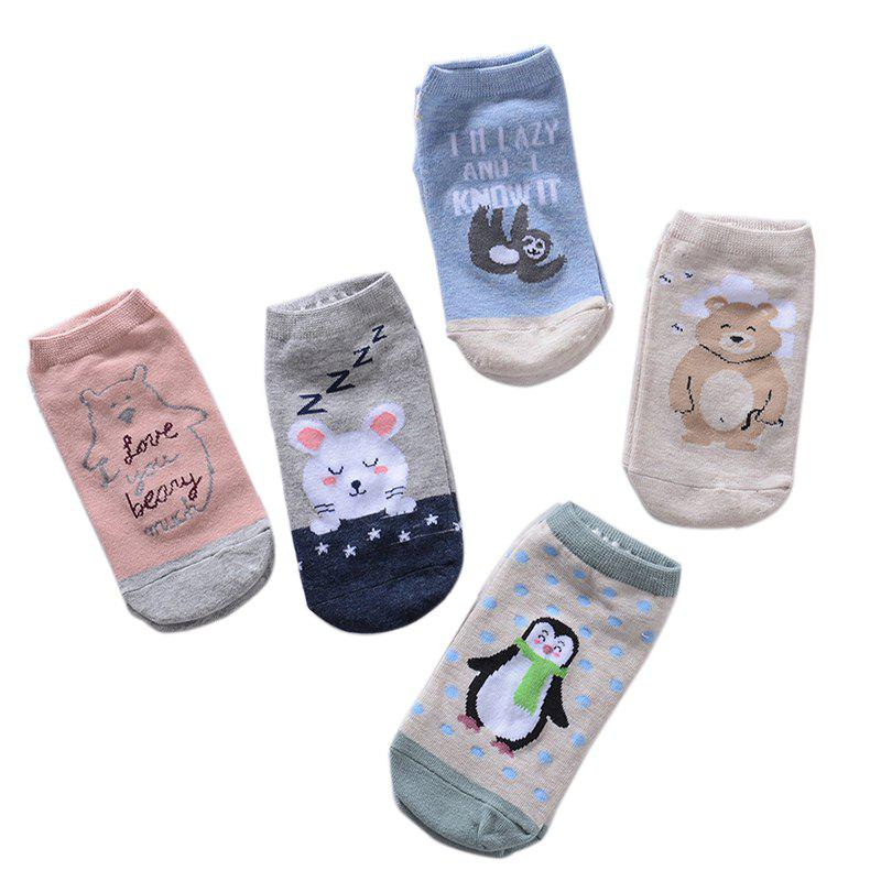 Fancy Water Absorption and Odor Proof Cotton Sock Five Double Color Mix and Match