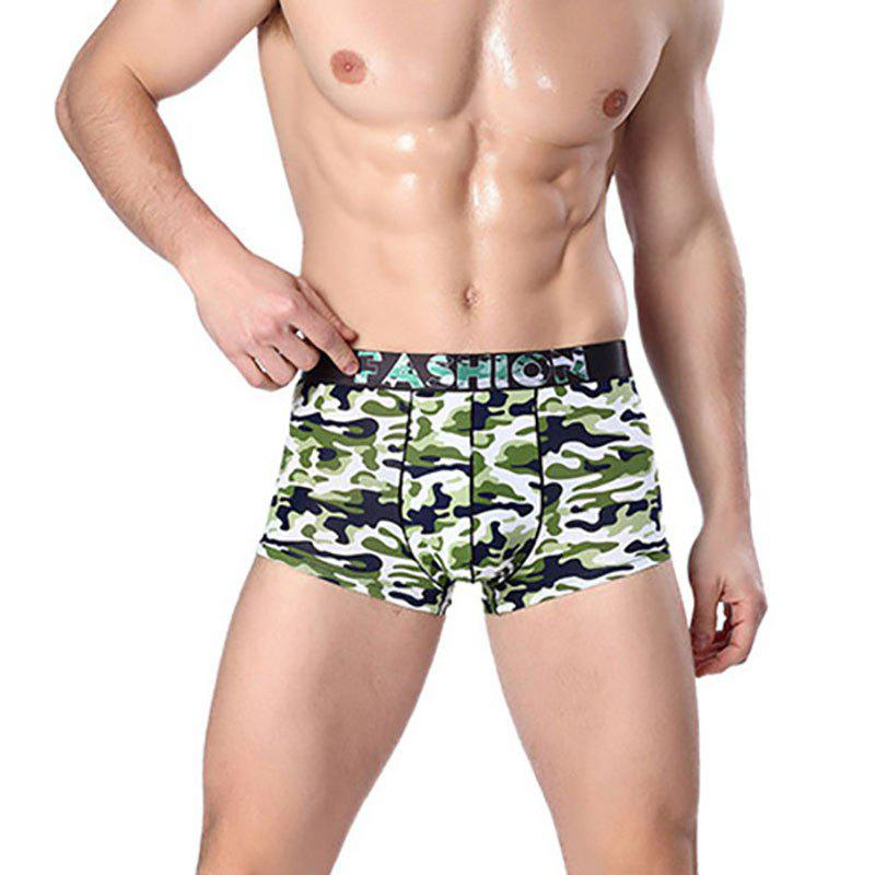 Shops Cotton Men's Boxers Printing Breathable Panties Underwear