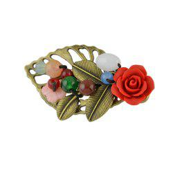 Leaf With Flower Hairpins Colorful Beaded Hairwear -