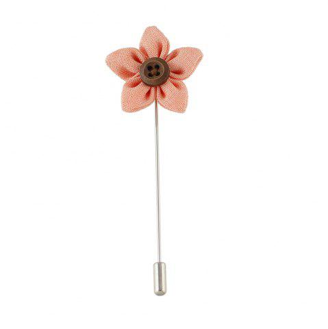 Affordable Colorful Fabric Flower Brooch Pins