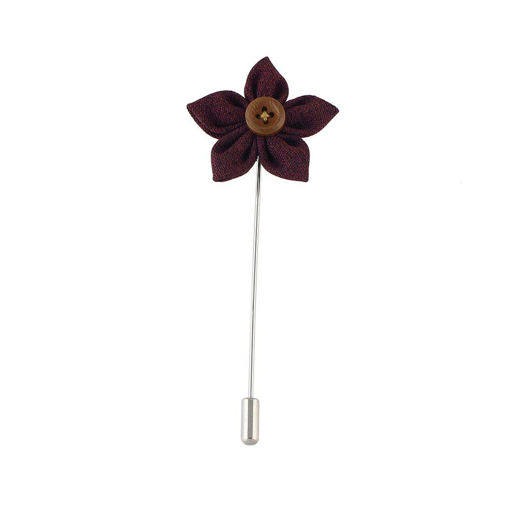 Cheap Colorful Fabric Flower Brooch Pins