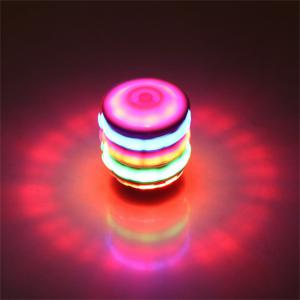 Luminous Wood Children Toys Colorful Music Flash Electric Top -