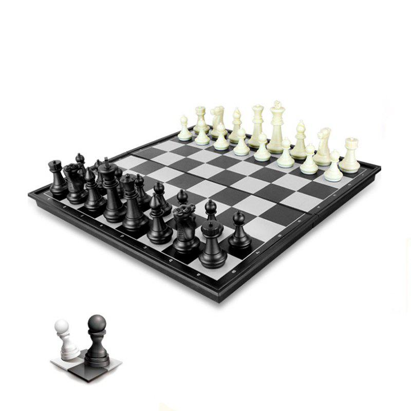 Fashion Contemporary Tournament Magnetic Chess Set With Folding Chess Board  Educational Toys
