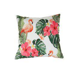 Bird and Flower Pink Pillowcase -