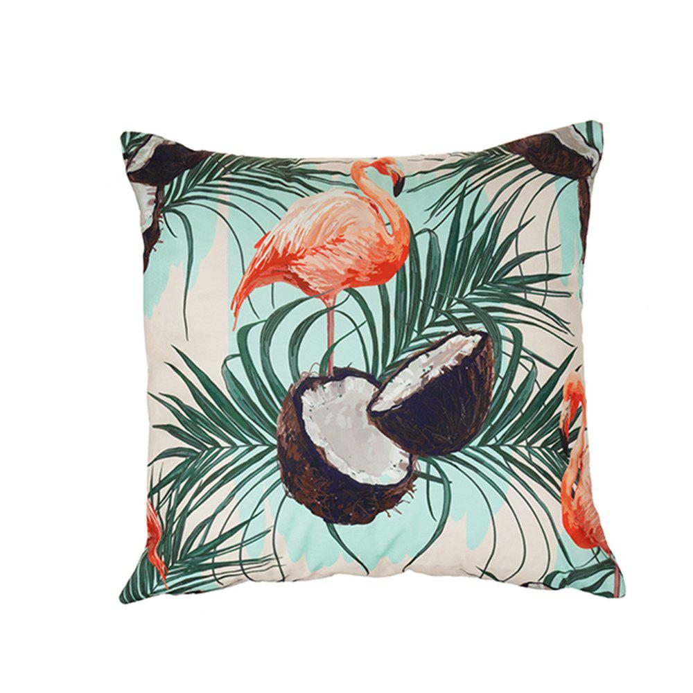Discount Bird and Flower Pink Pillowcase