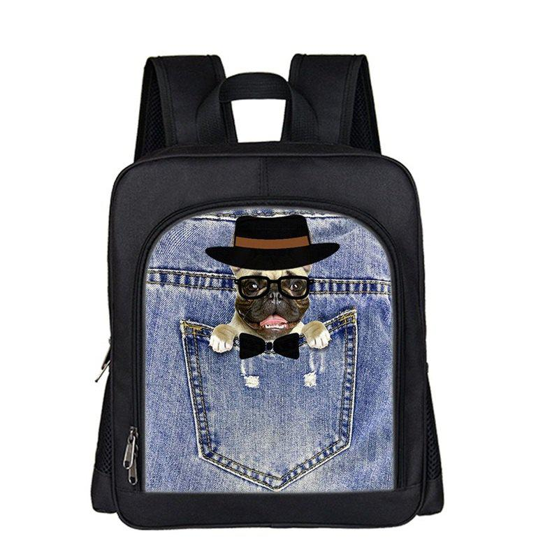 Unique Online Shopping Good Cute Dog Cool Black Boys Girls Kids School Bags