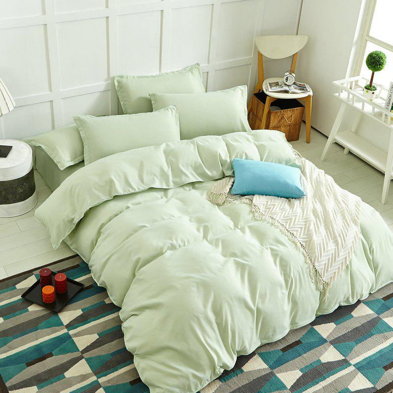 Hot Simple Pure Color Aloe Cotton Bedding Set 4PCS