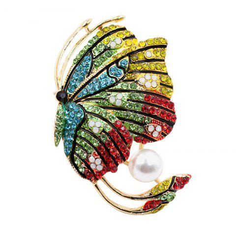 Unique PULATU Diamond Colorful Butterfly Brooch for Women XZ-C1L7-3