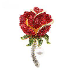 PULATU Diamond Simulate-Pearl Flower Brooch XZ-C1L7-10 -