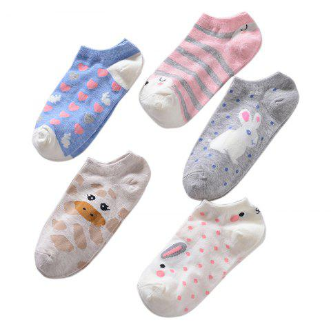 Fancy Spring and Summer Cotton Sock Five Double Color Mix and Match