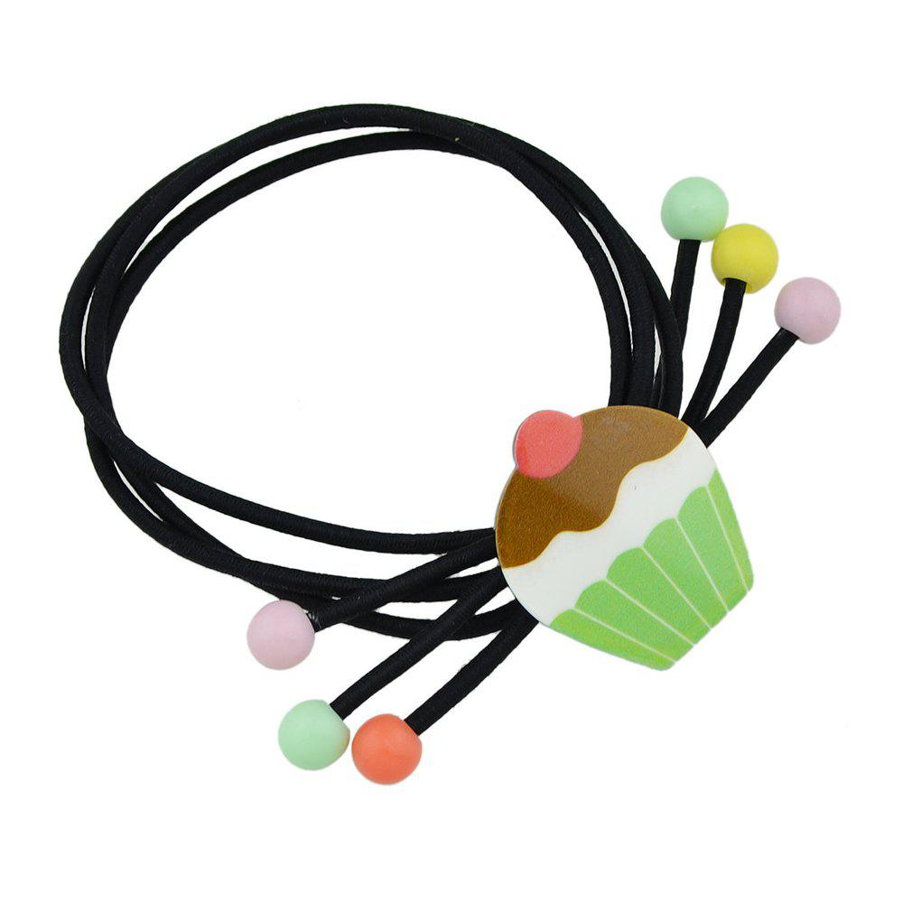 Outfit Elastic Rope With Colorful Ball Hairbands Hairwear