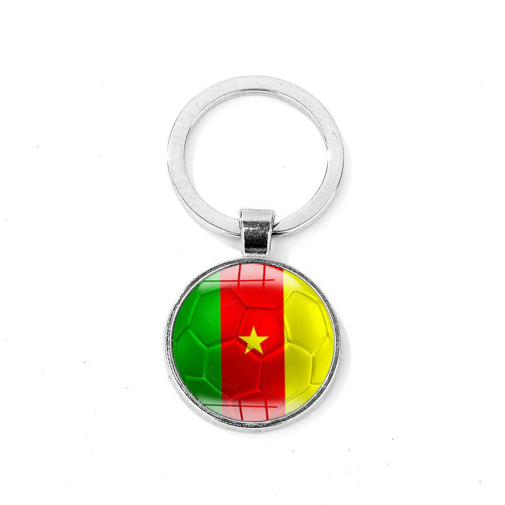 Chic Flag Football Portable Key Chain