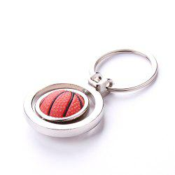 Creative Man Basketball Football Golf Mini Simulation Rotating Key Chain -