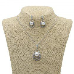 New Style Diamond with Crystal Necklace and Earrings Jewelry Sets -