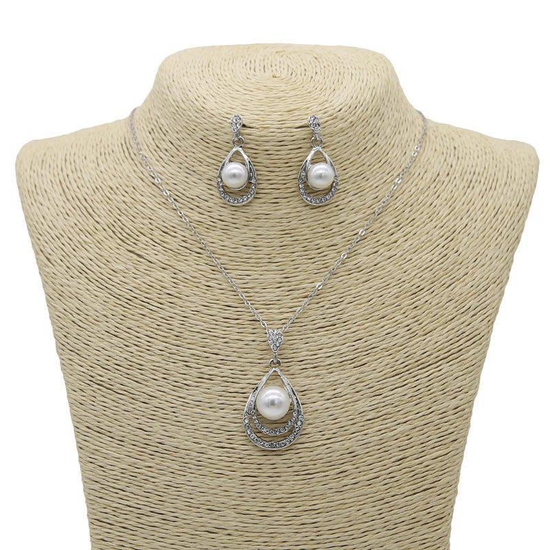 Outfit New Style Diamond with Crystal Necklace and Earrings Jewelry Sets