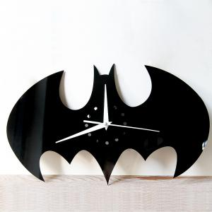 Batman Stickers Wall Clock  for Living Room Home Decoration Crafts -