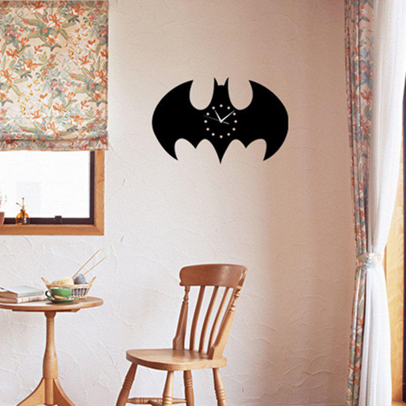 Fashion Batman Stickers Wall Clock  for Living Room Home Decoration Crafts