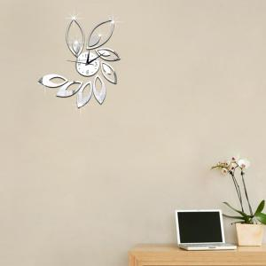 Bricolage Creative Rhombus Feuille Acrylique Horloge Murale Mode Moderne Wall Decal -