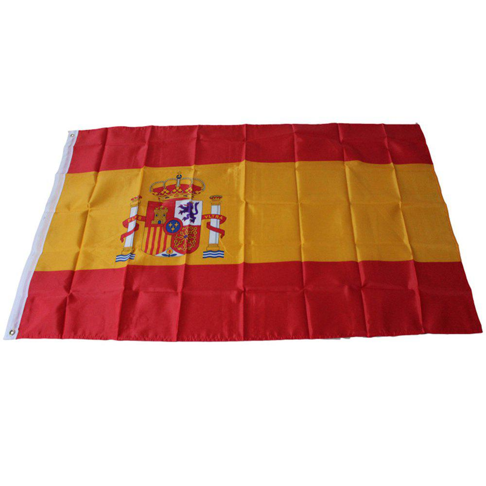 Best High Quality 150 x 90CM Spanish Flag Interior Home Decor Polyester