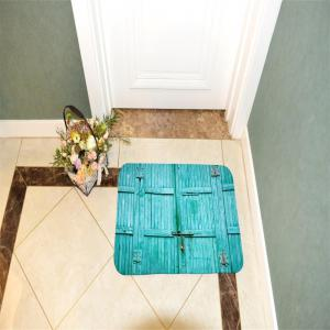 The Blue Wooden Door Super Soft Non-Slip Bath Door Mat Machine Washable -
