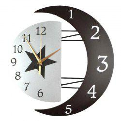 Fashion Creative Moon Frame Mute Quartz Clock -
