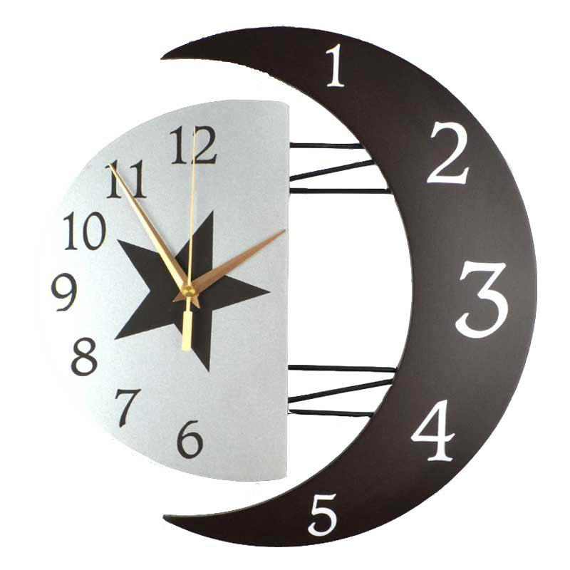 Store Fashion Creative Moon Frame Mute Quartz Clock