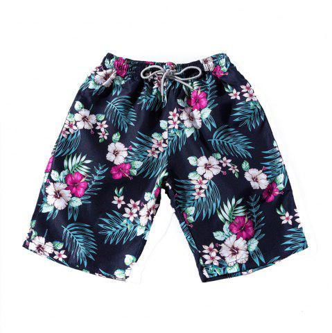 Hot Summer Men's Fast Dry Pants Seaside Holiday Shorts Printed Swimming Beach Pants