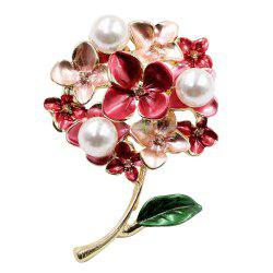 PULATU Fashion Simulate-Pearl Flower Brooch XZ-C1L8-1 -