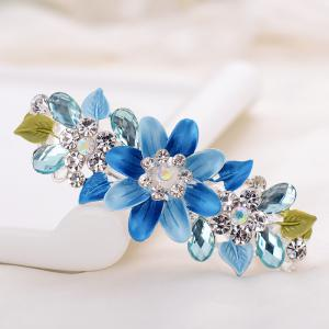 Hair Clip Exquisite Crystal Flower Hairpin Enamel Barrettes Girls Hair -