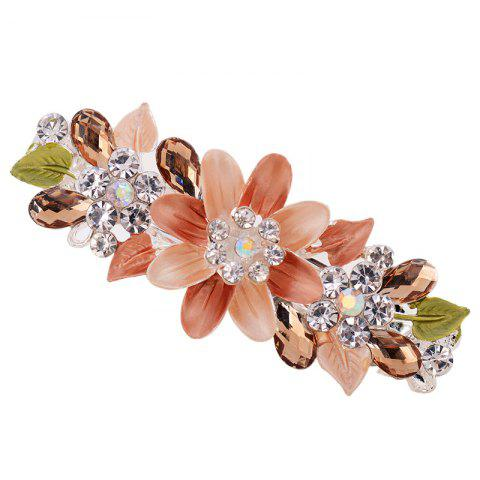 Trendy Hair Clip Exquisite Crystal Flower Hairpin Enamel Barrettes Girls Hair