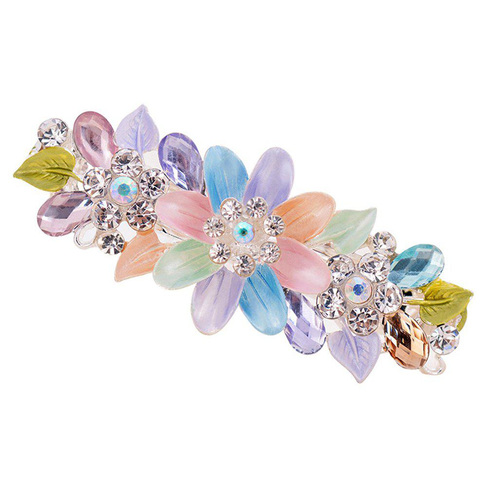 Shops Hair Clip Exquisite Crystal Flower Hairpin Enamel Barrettes Girls Hair