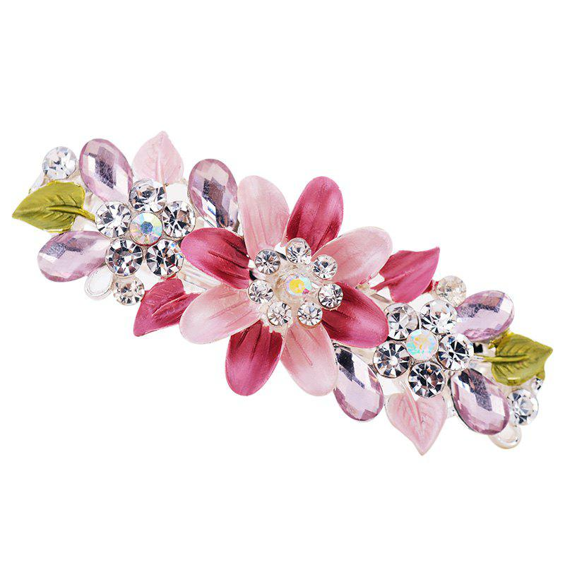 New Hair Clip Exquisite Crystal Flower Hairpin Enamel Barrettes Girls Hair
