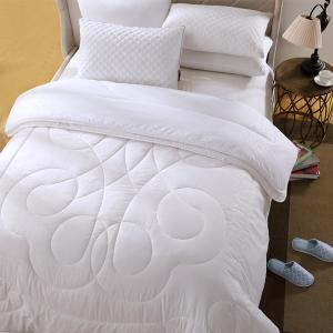 LOVO Soft Microfiber Filled Detachable Double Layers Wool Quilt for All Seasons -