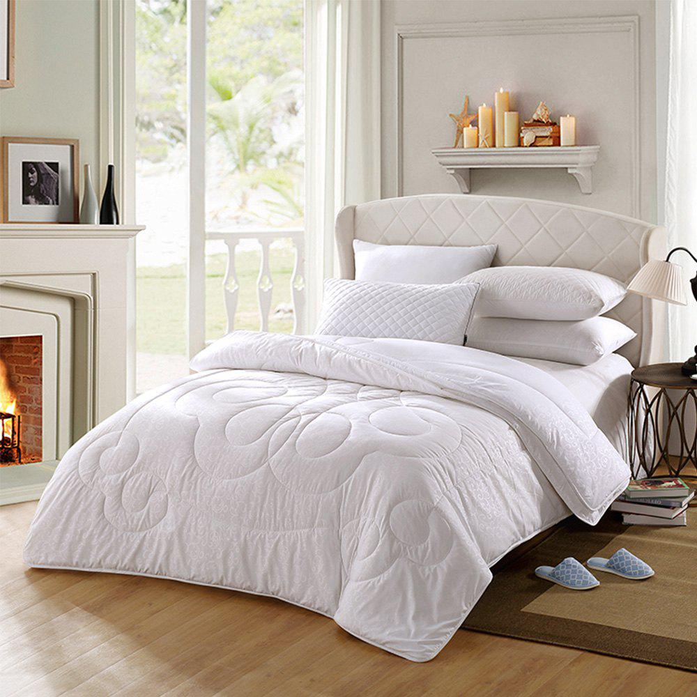 Online LOVO Soft Microfiber Filled Detachable Double Layers Wool Quilt for All Seasons