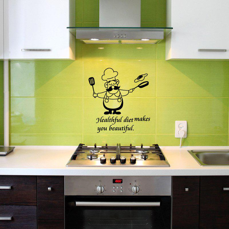 2018 Funny Kitchen Wall Stickers Waterproof Vinyl Decals Chef Home