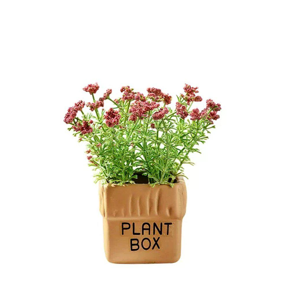 Shops WX-032804-C American Village Fresh and Simple Artificial Starry Potted Plant
