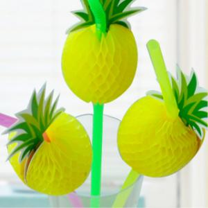 30 Support Creative Pineapple Modeling Birthday Party Stereo 3D Soft Sucker -