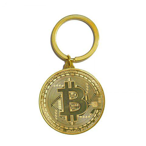 Hot Bitcoin Key Chain Plated Cryptocurrency Gift
