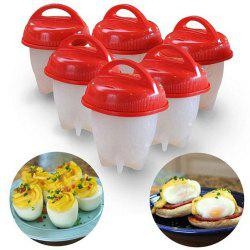 6Pcs Non-Stick Silicone Egg Cup Cooking Cooker -