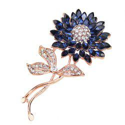 PULATU Women'S Diamond Gemstone Flower Brooch -