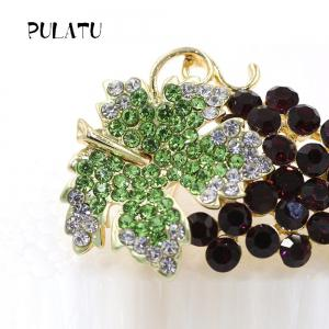PULATU Diamond Crystal Grape Brooch B2L3-7 -