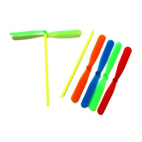 Outdoor Color Plastic Bamboo Dragonfly Toy 10PCS